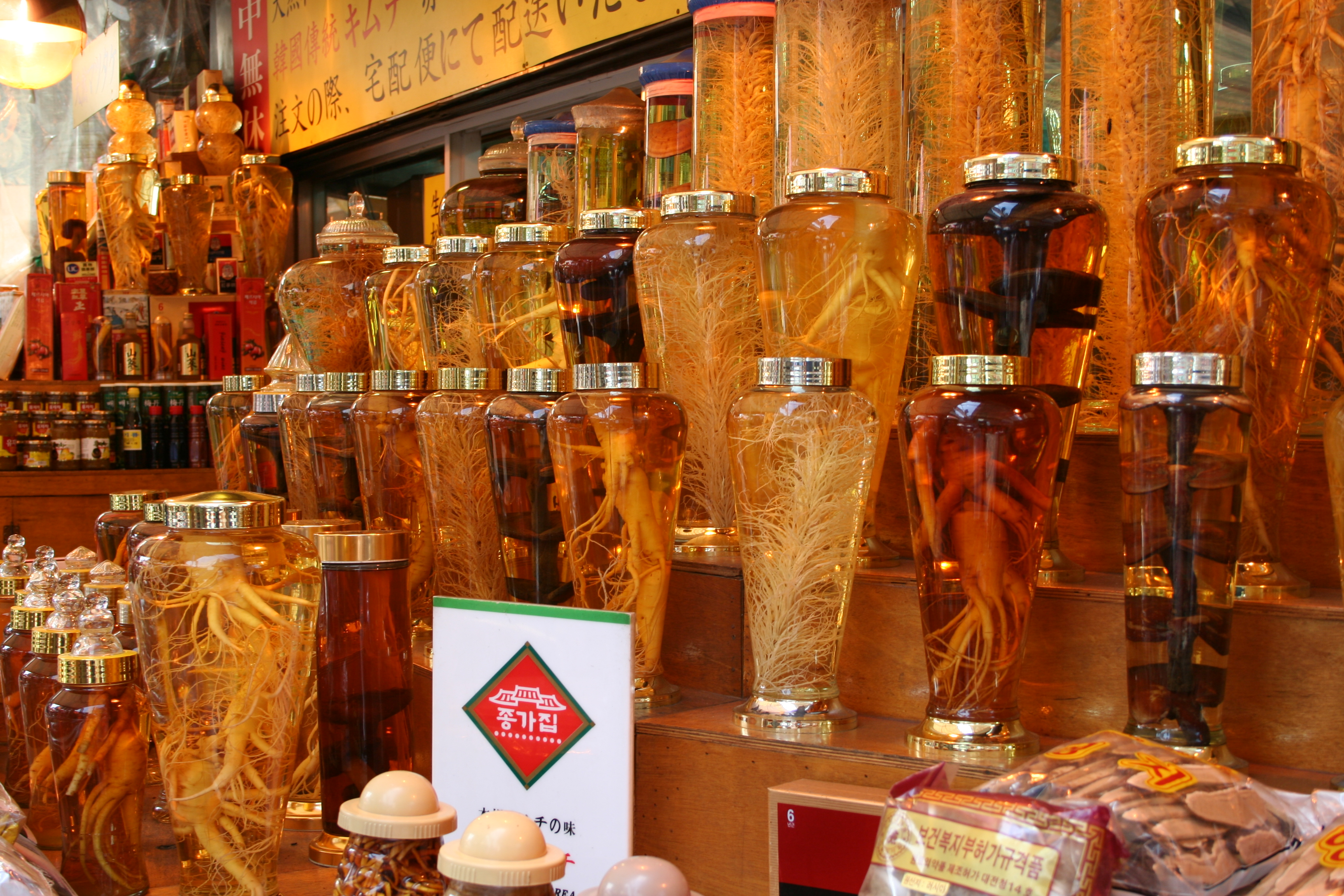 Ginseng at Namdaemun Market in Seoul