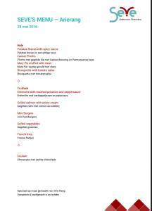 SEVE menu