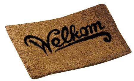 deurmat met tekst welkom