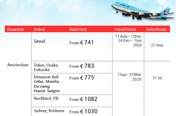 201907 Korean Air Promotion